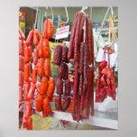 Mercado de la salchicha en Lima Posters