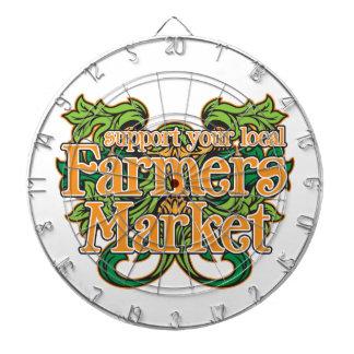 Mercado de los granjeros de la ayuda tablero dardos