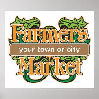 Mercado de los granjeros de la ayuda poster