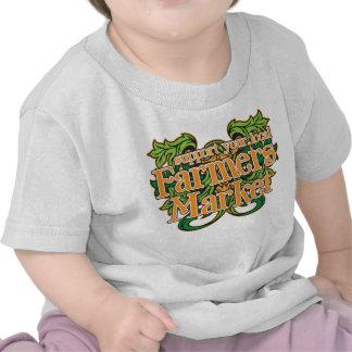 Mercado de los granjeros de la ayuda camiseta