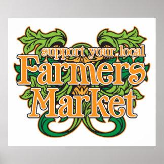 Mercado de los granjeros de la ayuda póster