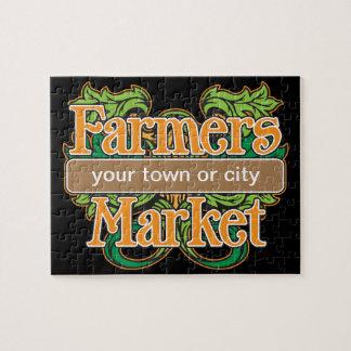 Mercado de los granjeros de la ayuda puzzle