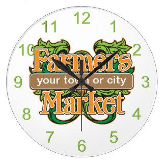 Mercado de los granjeros de la ayuda reloj de pared