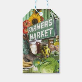 Mercado de los granjeros etiquetas para regalos