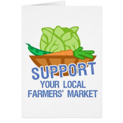 Mercado de los granjeros felicitaciones