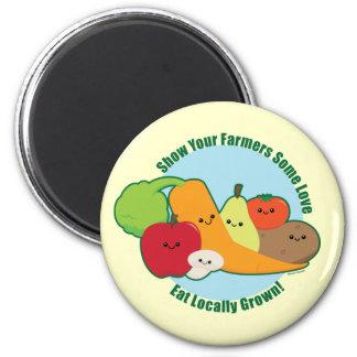 Mercado de los granjeros imán redondo 5 cm