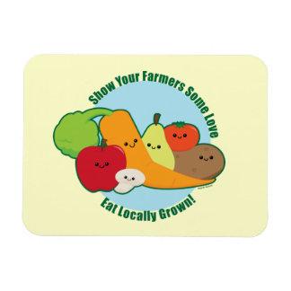 Mercado de los granjeros rectangle magnet