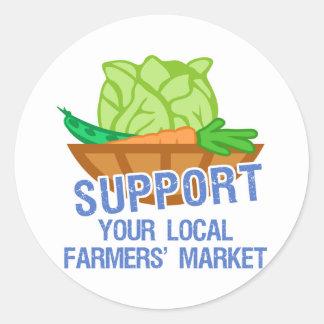 Mercado de los granjeros etiquetas