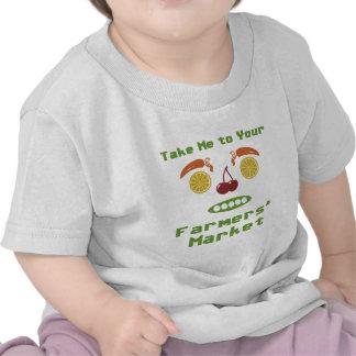 Mercado de los granjeros camiseta
