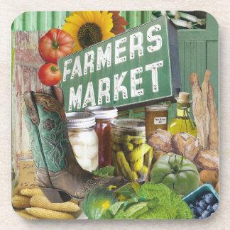 Mercado de los granjeros posavasos de bebida