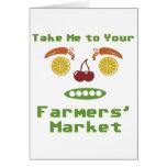 Mercado de los granjeros tarjeta