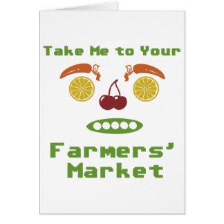 Mercado de los granjeros tarjeta de felicitación