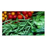 Mercado de los granjeros tarjeta de visita