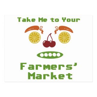 Mercado de los granjeros tarjeta postal