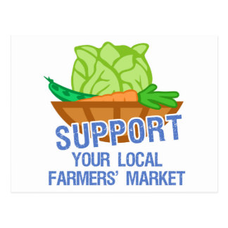 Mercado de los granjeros tarjetas postales