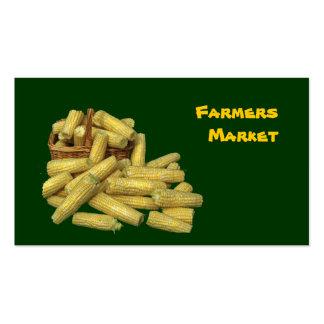 Mercado de los granjeros tarjetas de visita