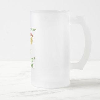 Mercado de los granjeros taza de cristal