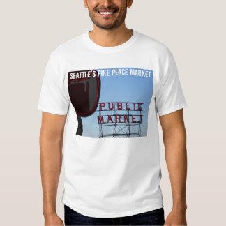 Mercado de lugar de Pike de Seattle Camisas