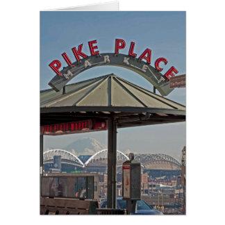 Mercado de lugar de Pike en Seattle, WA Tarjeta De Felicitación
