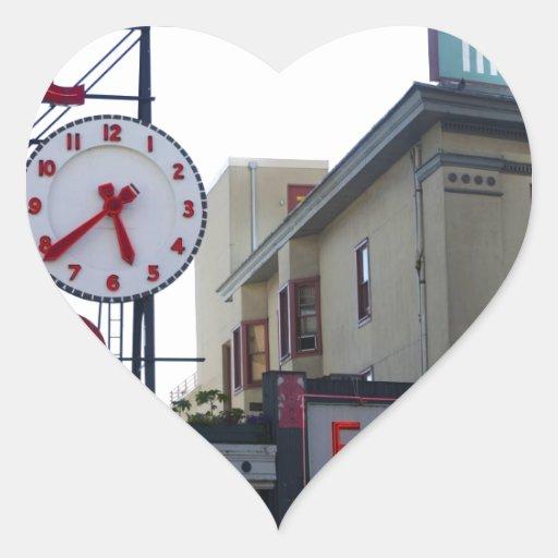 Mercado de lugar de Pike Pegatina En Forma De Corazón