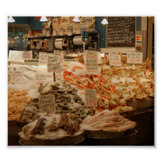 Mercado de lugar de Pike Póster