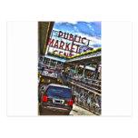 Mercado de lugar de Pike Tarjeta Postal