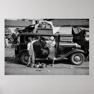 Mercado de New Orleans, los años 30 Póster