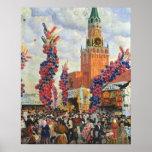 Mercado de Pascua en la Moscú el Kremlin, 1917 Posters