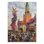 Mercado de Pascua en la Moscú el Kremlin, 1917 Tarjeta De Felicitación