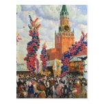 Mercado de Pascua en la Moscú el Kremlin, 1917 Postales