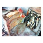 Mercado de pescados arte con fotos