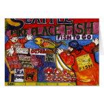 Mercado de pescados de Seattle Tarjeta