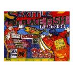 Mercado de pescados de Seattle Tarjetas Postales