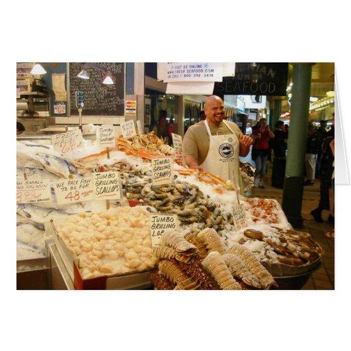 Mercado de pescados Seattle WA Tarjeta