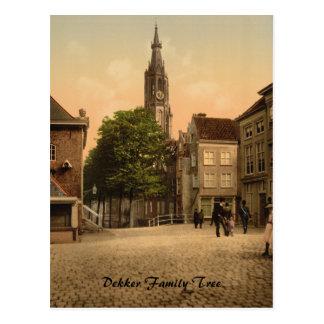 Mercado de pescados y nueva iglesia, Delft, Países Tarjetas Postales