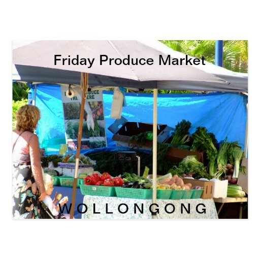 Mercado de producción de viernes - parada de la fr postales