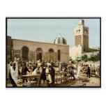 Mercado del ébano, vintage Photochrom de Túnez, Tú Tarjeta Postal
