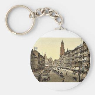 Mercado, del este, Breslau, Silesia, Ger Llaveros Personalizados
