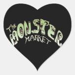 Mercado del monstruo colcomanias corazon personalizadas