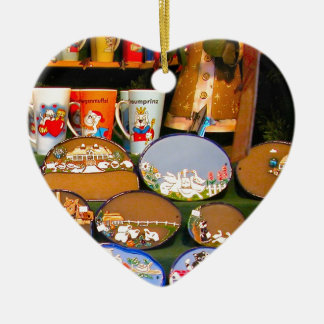 Mercado del navidad de Heidlelberg Adorno Navideño De Cerámica En Forma De Corazón