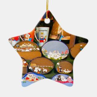 Mercado del navidad de Heidlelberg Adorno Navideño De Cerámica En Forma De Estrella