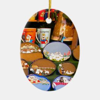 Mercado del navidad de Heidlelberg Adorno Navideño Ovalado De Cerámica