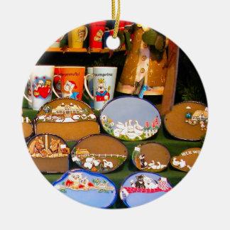 Mercado del navidad de Heidlelberg Adorno Navideño Redondo De Cerámica