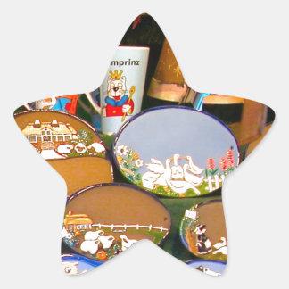 Mercado del navidad de Heidlelberg Pegatina En Forma De Estrella