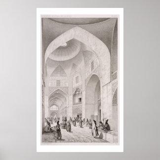 Mercado del paño, en Isfahán, del 'viaje Pittoresq Impresiones