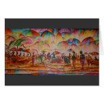 Mercado del paraguas - tarjeta de felicitación