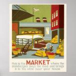Mercado del poster de WPA