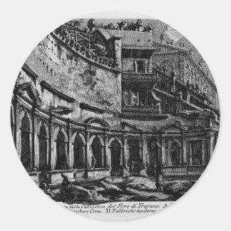 Mercado del ` s de Juan Piranesi-Trajan Etiqueta Redonda