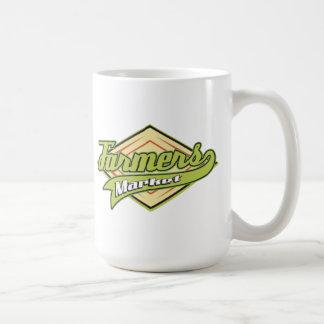 Mercado deportivo de los granjeros taza de café