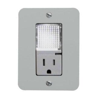 Mercado eléctrico con la luz de la noche rectangle magnet